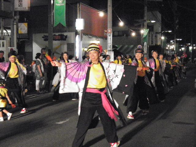 信天翁(坂戸市)各通りがよさこい一色になった坂戸でした