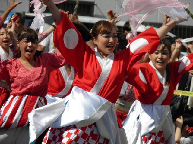 舞謳歌(四街道市)もう一つの会場である栄町会場も多くの人でにぎわっていました